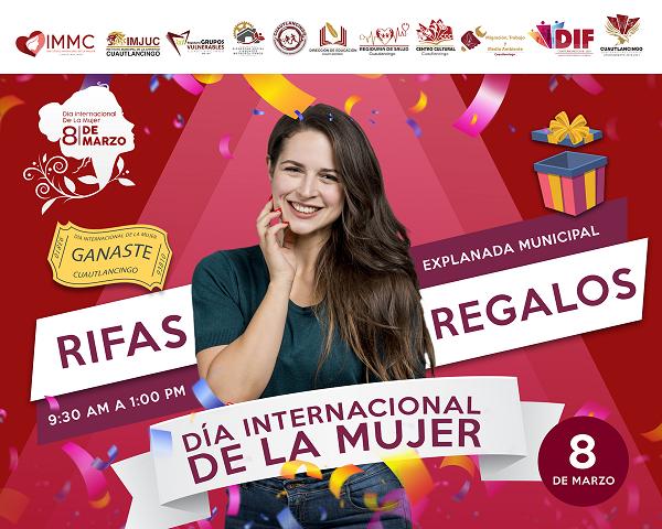 Invitan Ayuntamiento de Cuautlancingo a eventos conmemorativos por el Día de la Mujer