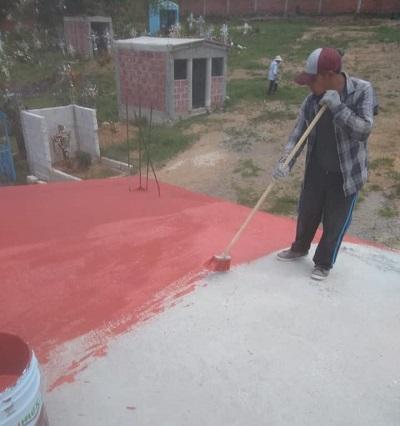 Impermeabilizan construcciones del panteón Francisco Sarabia