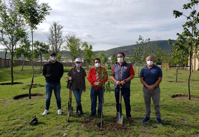 Plantan 200 árboles en Ocoyucan