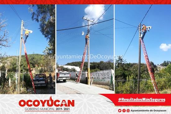¡Servicios Públicos de Ocoyucan siguen trabajando!
