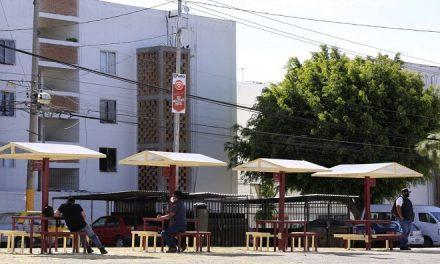 Ayuntamiento de Puebla entrega domo escolar y guarniciones en La Margarita