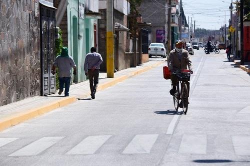 Gobierno de la Ciudad rehabilita calles con concreto hidráulico en zona CAPU