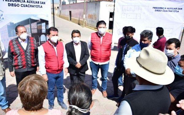 En abril inicia construcción de nueva presidencia auxiliar de San Diego Cuachayotla, informó el edil Luis Alberto Arriaga