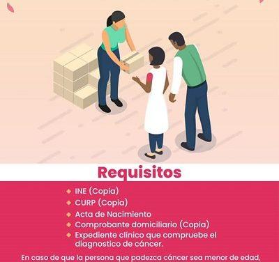 El DIF Ocoyucan te invita a afiliarte al Programa Alimentario para Personas con Cáncer