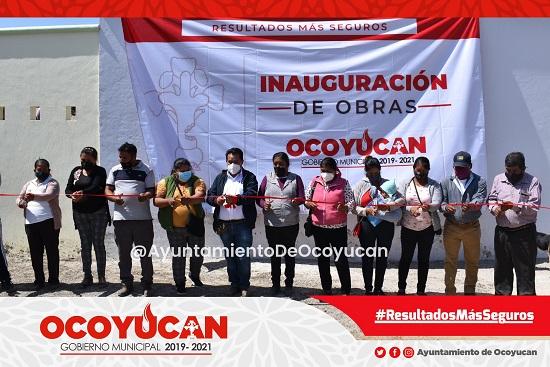 INAUGURAN RED DE DRENAJE EN OCOYUCAN